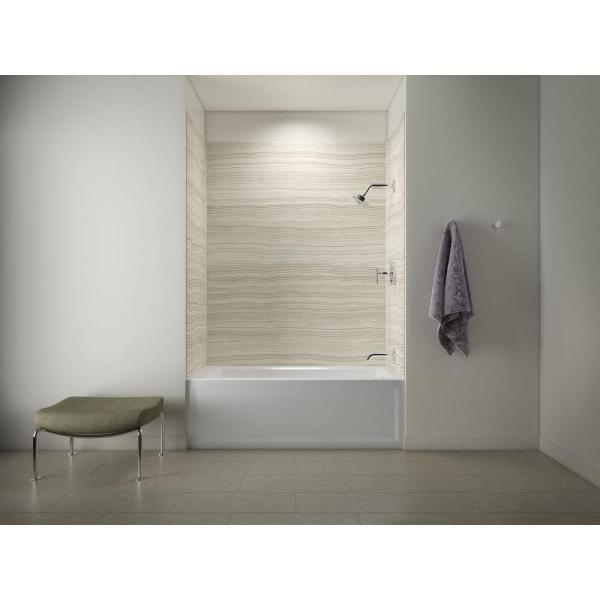 Kohler Archer 60 In Right Hand Drain Tub With Choreograph 60 In X 32 In X 72 In 5 Piece Wall Kit In Veincut Biscuit K 97618 W08 1123 Ra 0 The Home Depot