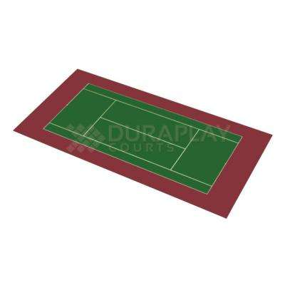 50 ft. 6 in. x 99 ft. 10 in. Slate Green and Burgundy Full Tennis Court Kit
