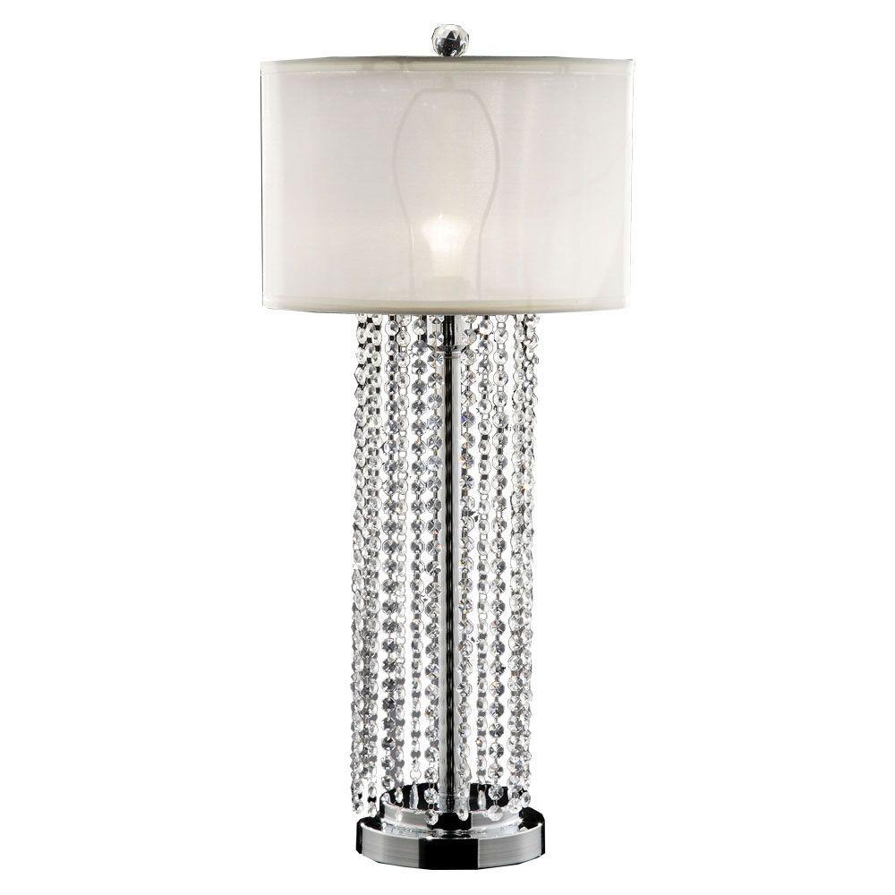 OK LIGHTING 30.5 in. Silver Simple Elegance Table Lamp