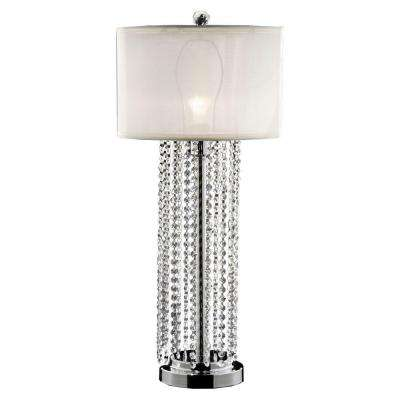 30.5 in. Silver Simple Elegance Table Lamp