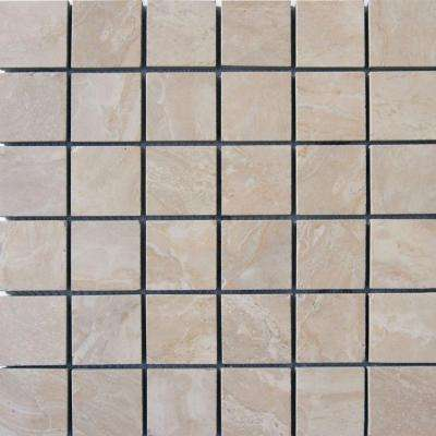 Onyx Crystal 12 in. x 12 in. x 10mm Porcelain Mesh-Mounted Mosaic Floor and Wall Tile