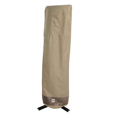 Elegant 101 in. Tan Patio Offset Umbrella Cover with Integrated Installation Pole
