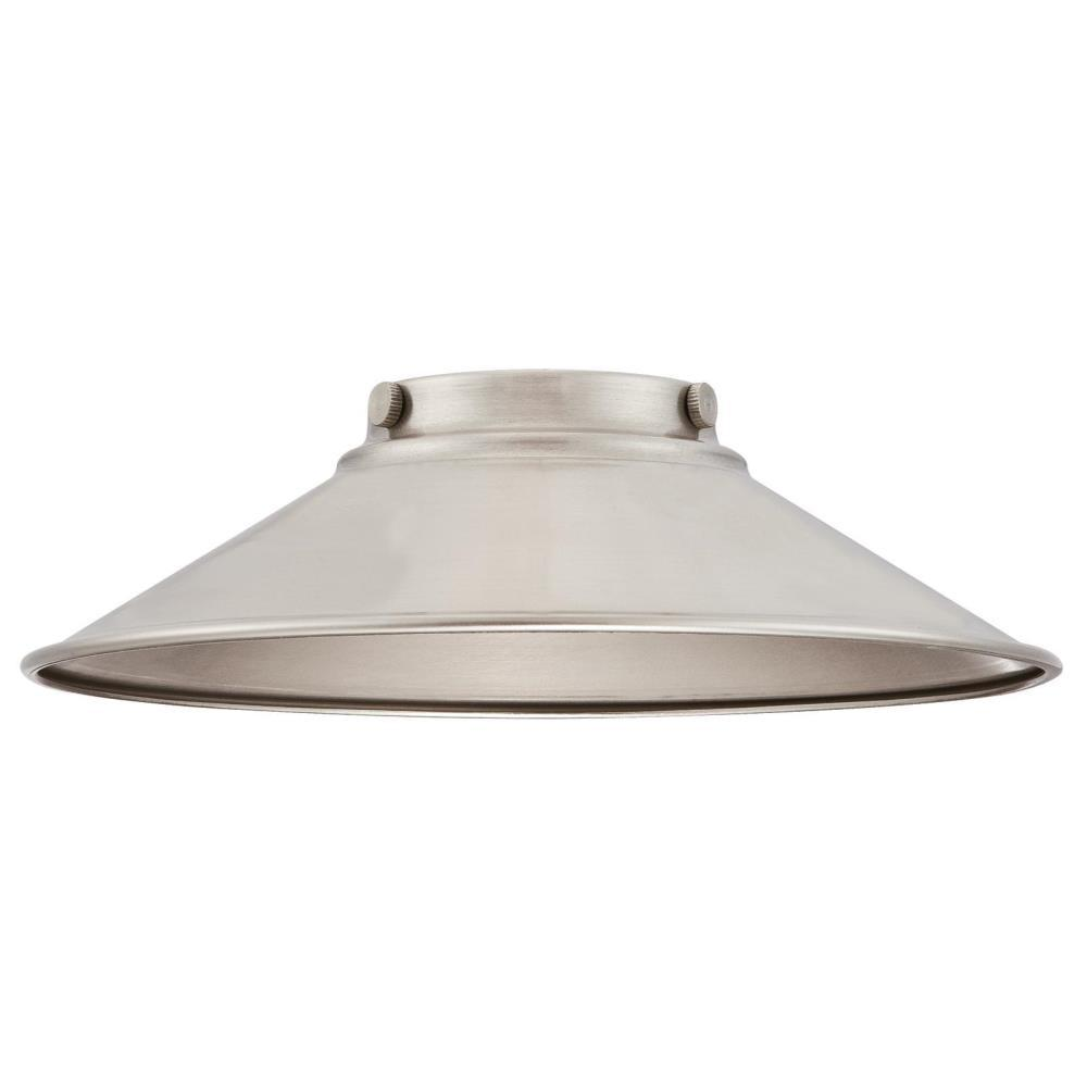 2-9/16 in. Brushed Nickel Shade with 2-1/4 in. Fitter and 9