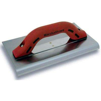 """10 in. x 6 in. Big """"I"""" Stainless Steel Edger 3/8 in. Radius 1/2 in. Lip DuraSoft Handle"""