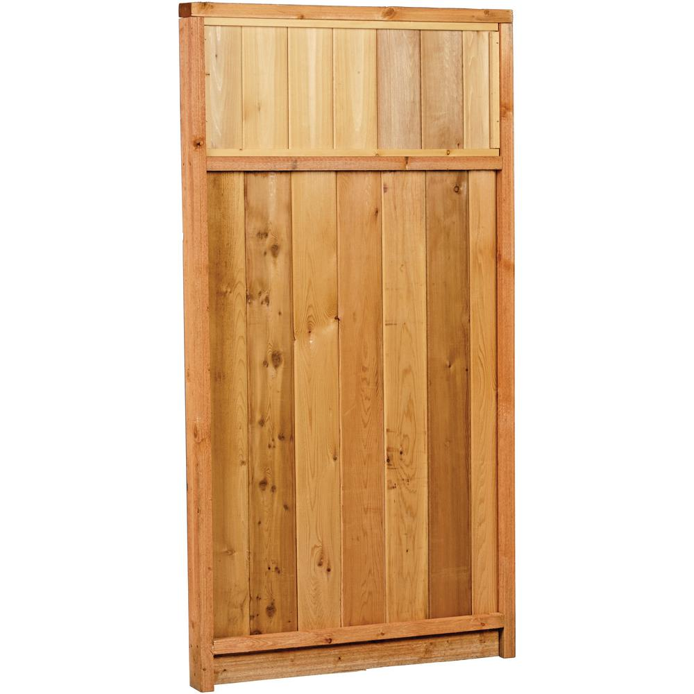 6 ft. x 3 ft. Premium Cedar Solid Top Gate with