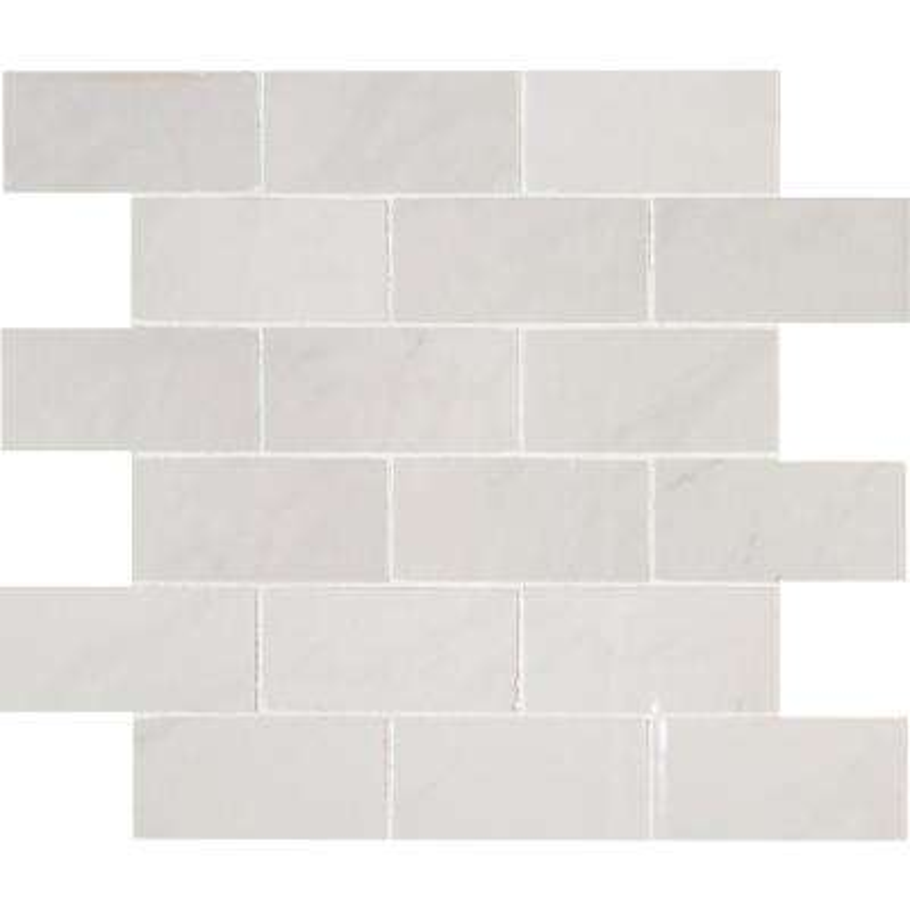 Aria Cremita 12 in. x 12 in. x 10mm Polished Porcelain Mesh-Mounted Mosaic Tile (8 sq. ft. / case)