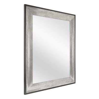 23 in. W x 29 in. H Framed Rectangular Anti-Fog Bathroom Vanity Mirror in Two-Toned Pewter