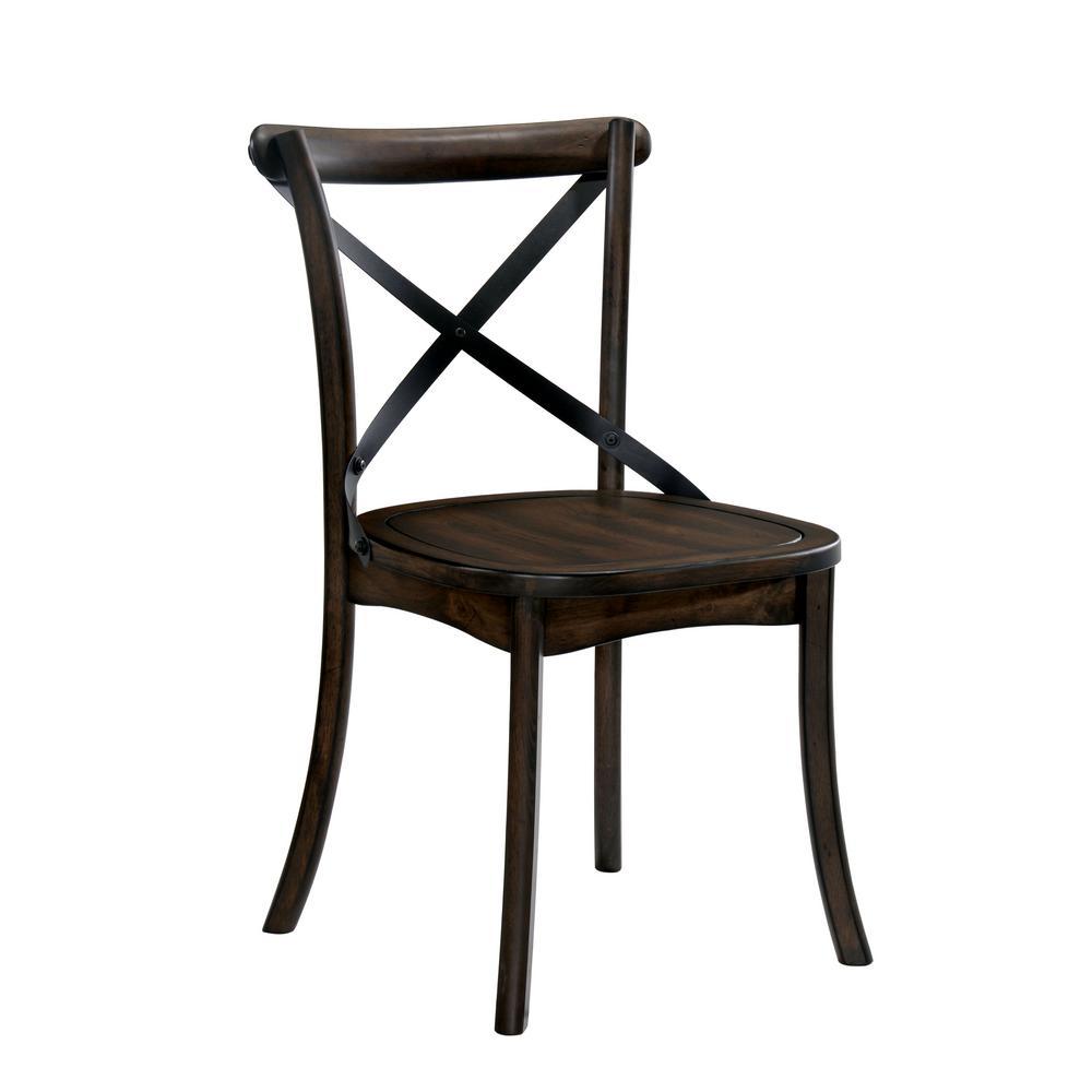 Xander Burnished Oak X Side Chair (Set of 2)