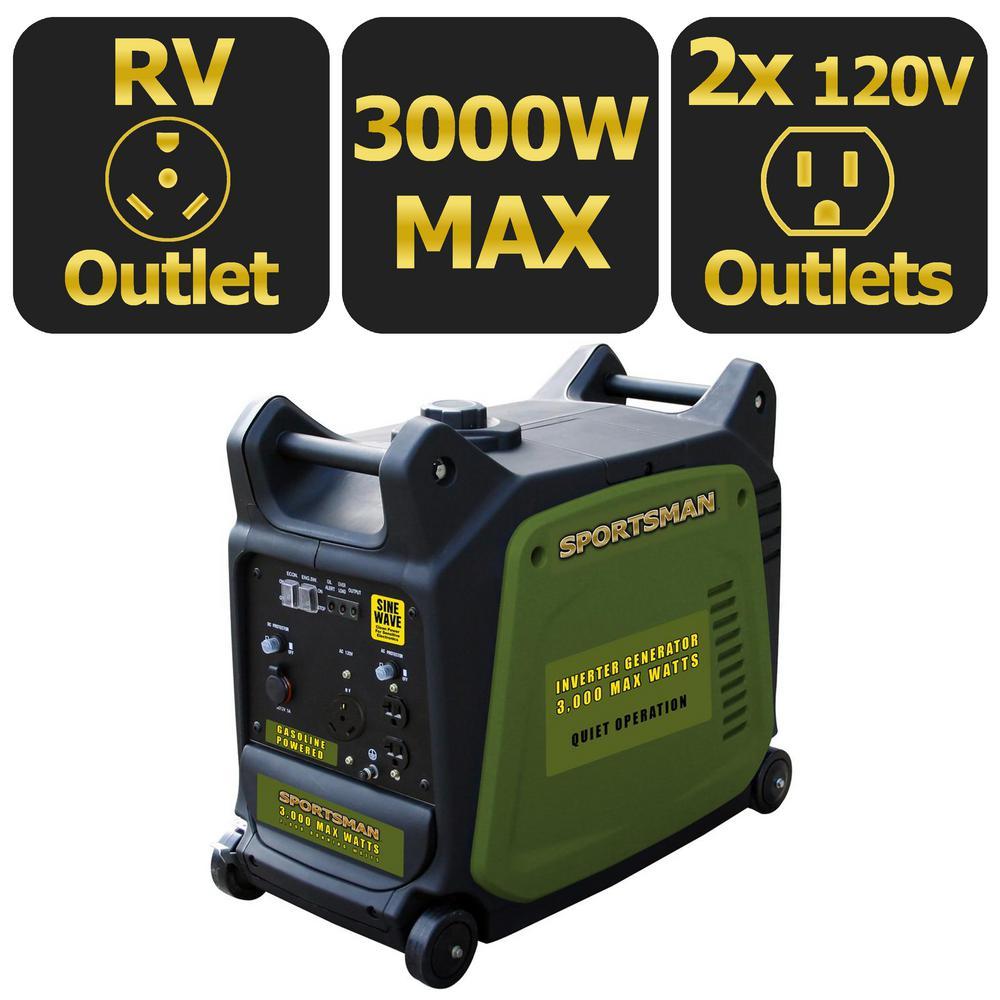 Sportsman 3,000-Watt Gasoline Powered Digital Inverter Ge...