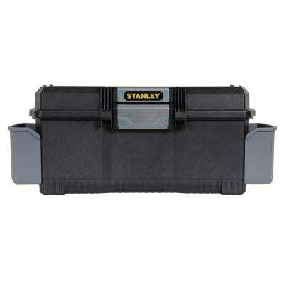 24 in. 1-Touch Latch Tool Box with Side Pockets