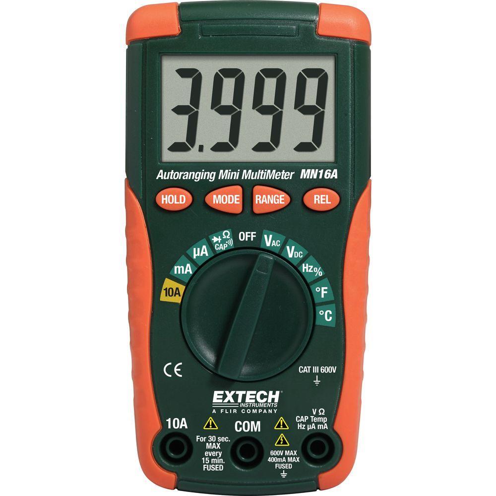 Home Depot Multimeter : Extech instruments digital mini multimeter mn a the
