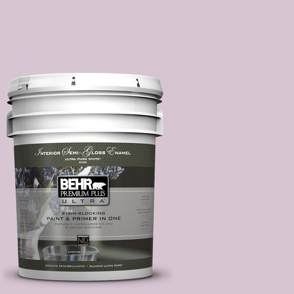 BEHR Premium Plus Ultra 5-gal. #680E-3 Rosy Lavender Semi-Gloss Enamel Interior Paint