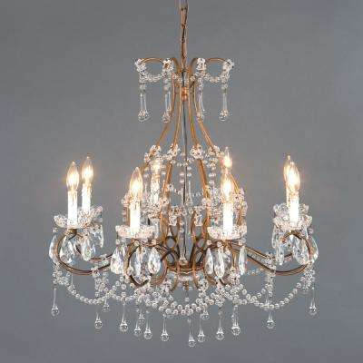 Kearney Collection 8-Light Antique Gold Chandelier