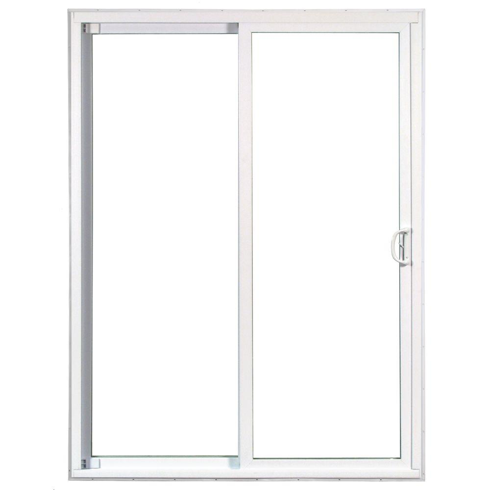 American craftsman 72 in x 80 in 50 series white vinyl for White pvc patio doors