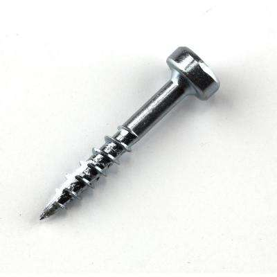#7 x 1 in. Square Drive Pan-Head Zinc Pocket-Hole Screw (250-Pack)