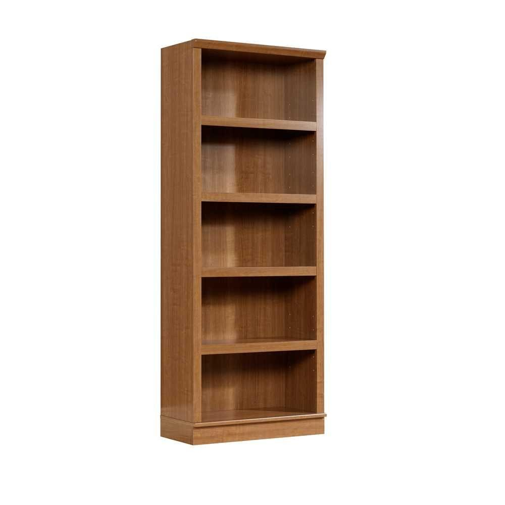 SAUDER HomePlus Collection Sienna Oak 5-Shelf Bookcase-DISCONTINUED