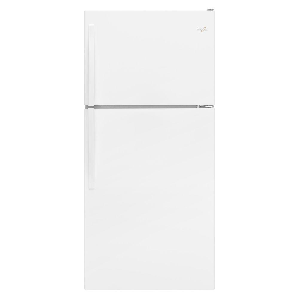 Whirlpool 30 in. W 18.2 cu. ft. Top Freezer Refrigerator in White