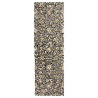 Helena Pewter 3 ft. x 12 ft. Runner Rug
