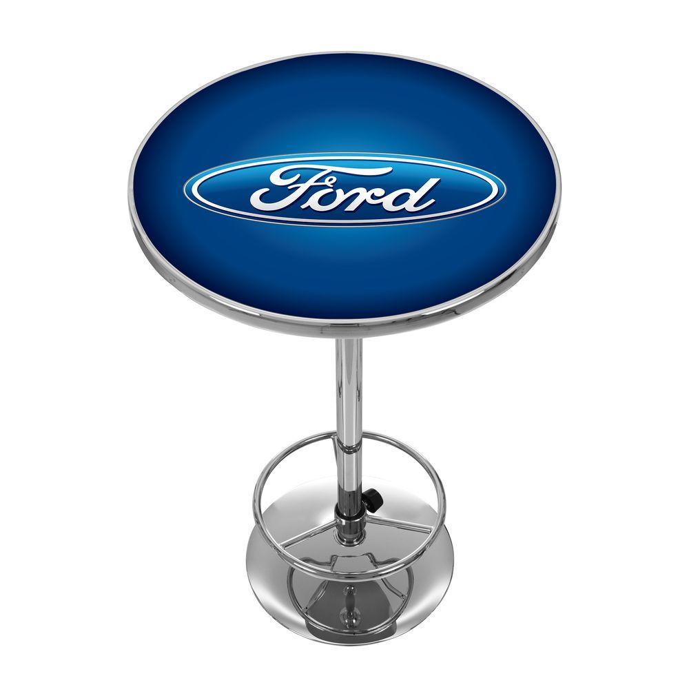Oval Chrome Pub/Bar Table