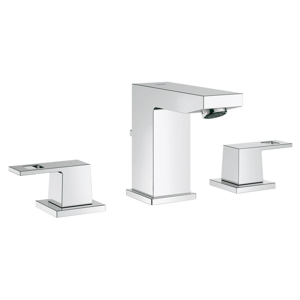 Eurocube 8 in. Widespread 2-Handle Low-Arc 1.2 GPM Bathroom Faucet in