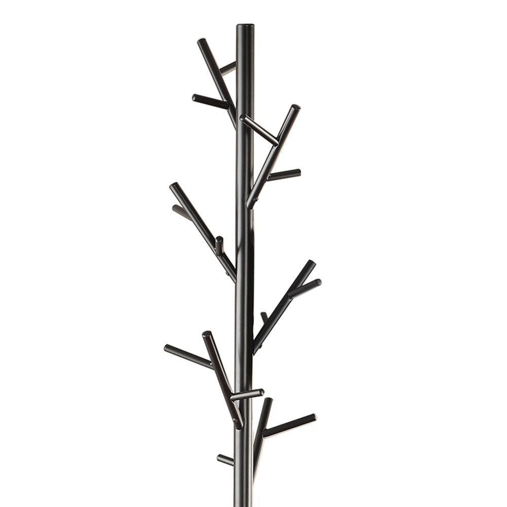 Shiny Black Twig Style Metal Coat Rack