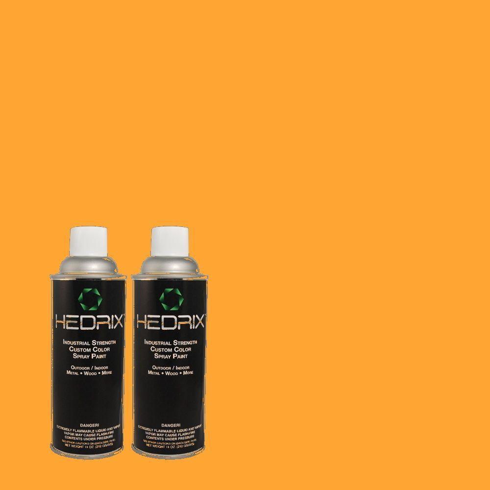 Hedrix 11 oz. Match of S-G-300 Hawaiian Passion Flat Custom Spray Paint (2-Pack)