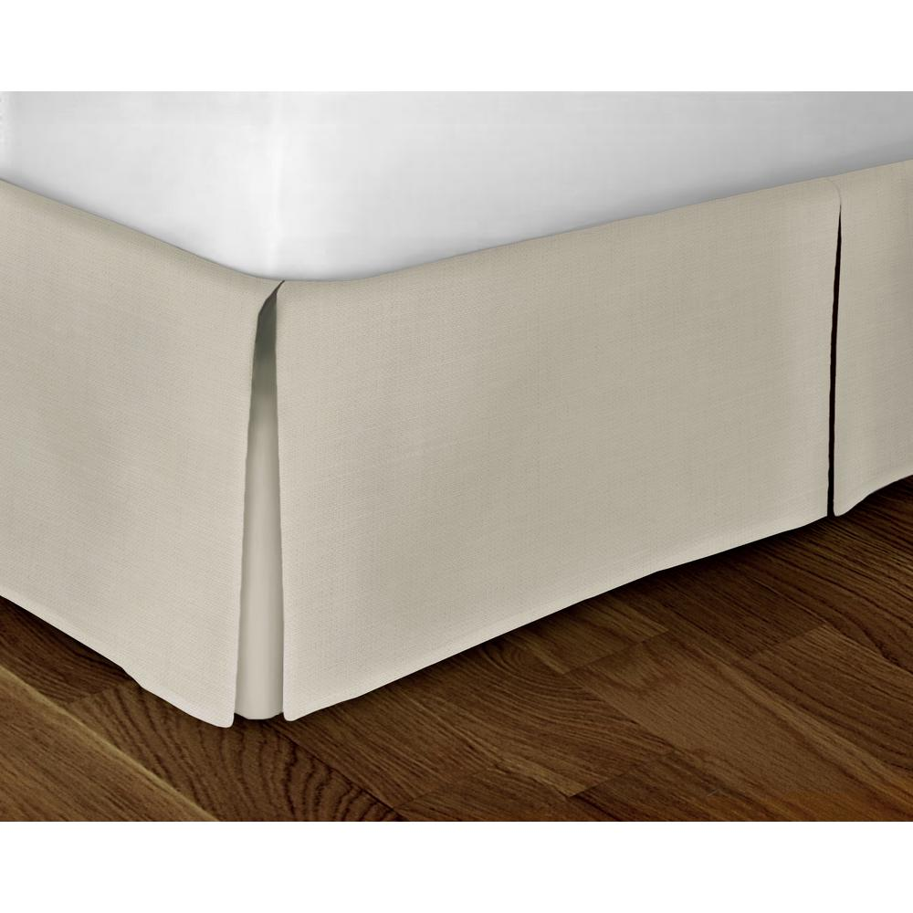 rizzy home grey solid pattern queen bed skirt sktbt1391gy006080 the home depot. Black Bedroom Furniture Sets. Home Design Ideas