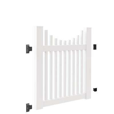 Ottawa Scallop 4 ft. W x 4 ft. H White Vinyl Un-Assembled Fence Gate