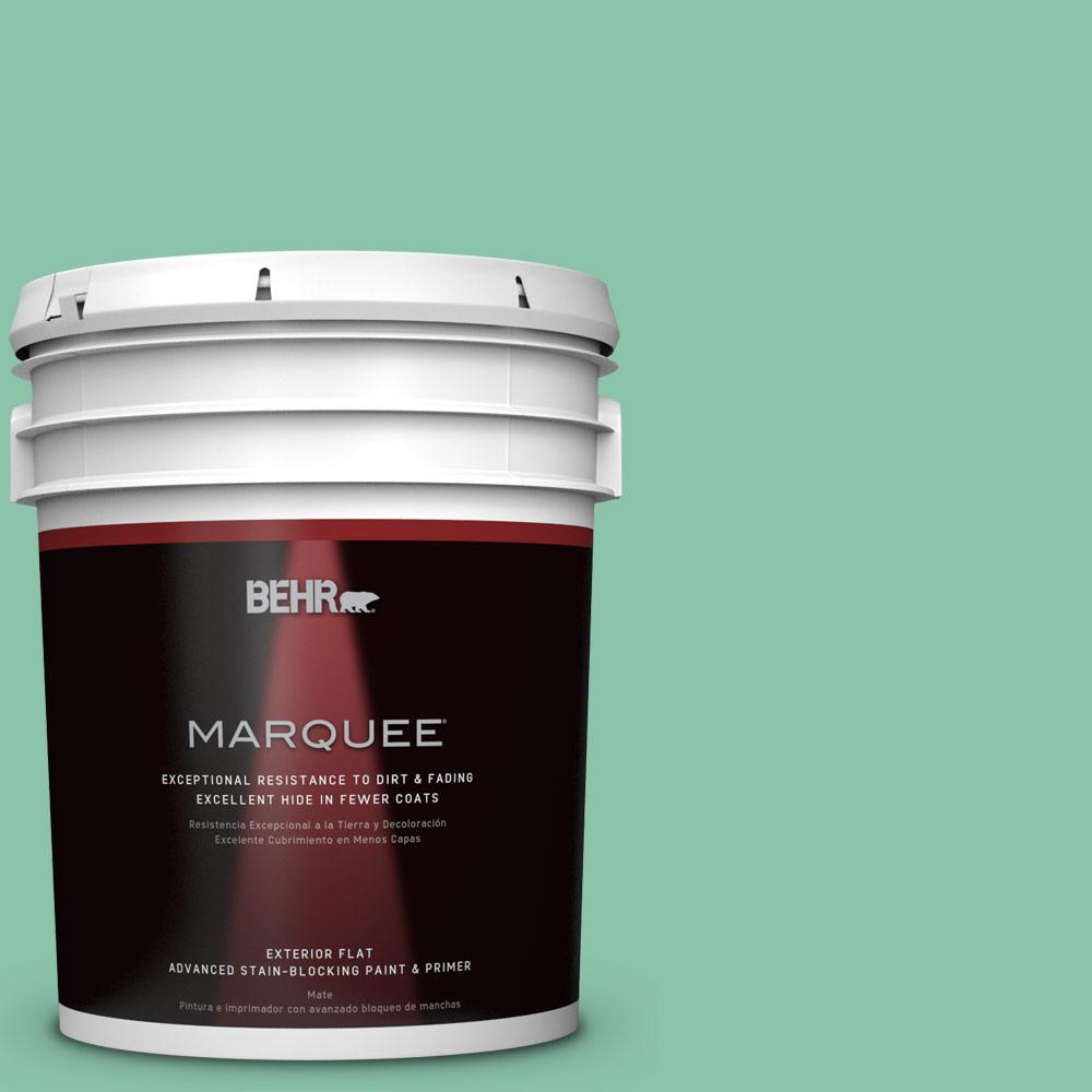 Home Decorators Collection 5-gal. #HDC-WR14-8 Spearmint Frosting Flat Exterior Paint