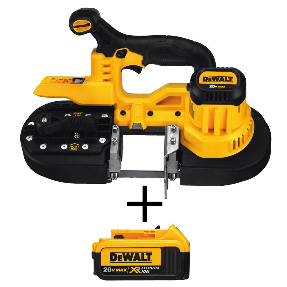 DEWALT 20-Volt MAX Lithium-Ion Cordless Band Saw (Tool-Only) with Free 20-Volt MAX XR Lithium-Ion Premium 4.0Ah Battery Pack