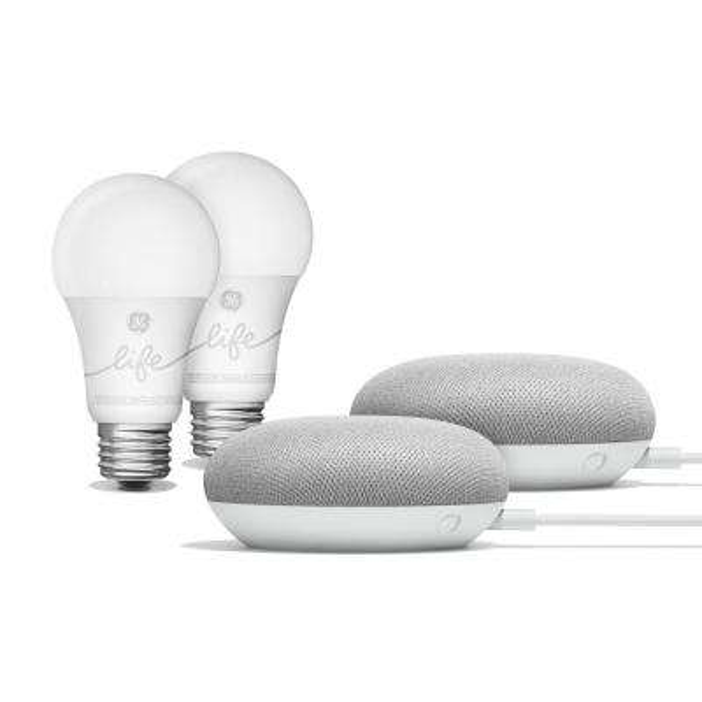 Smart Light Starter Kit 2-Pack with Google Assistant Chalk