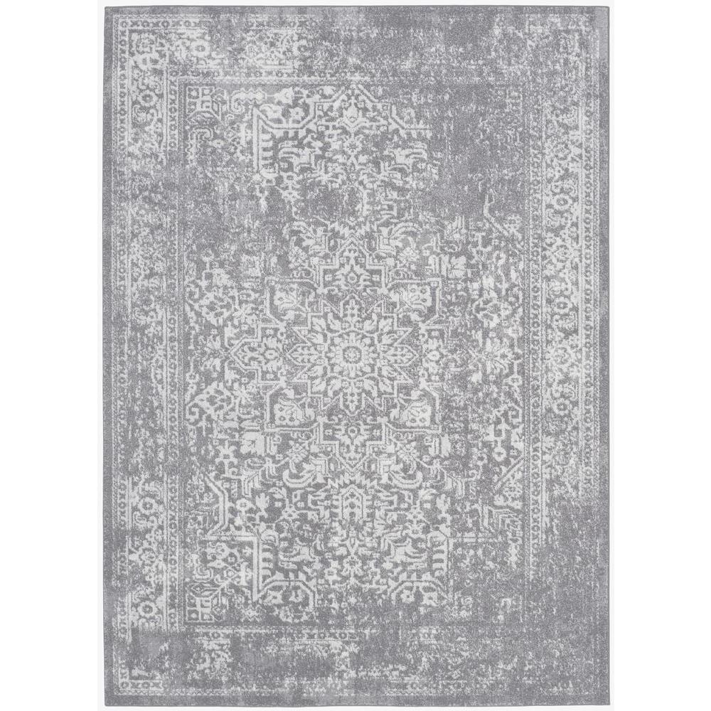 Evoke Silver/Ivory 8 ft. x 10 ft. Area Rug