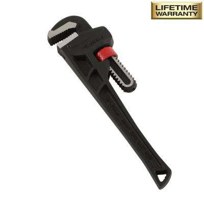 10 in. Heavy Duty Cast Iron Pipe Wrench with 1 in. Jaw Capacity