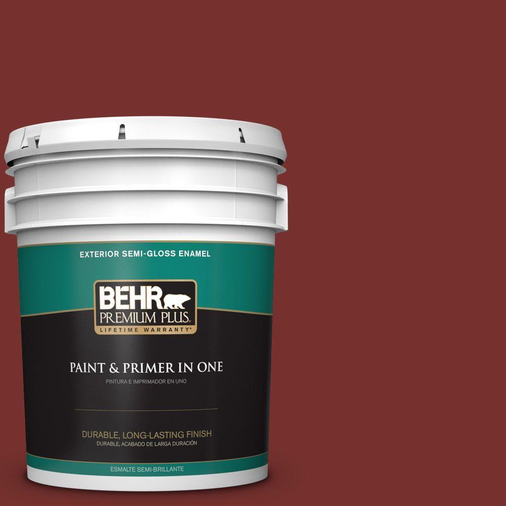 5-gal. #ECC-15-3 Cherry Bark Semi-Gloss Enamel Exterior Paint