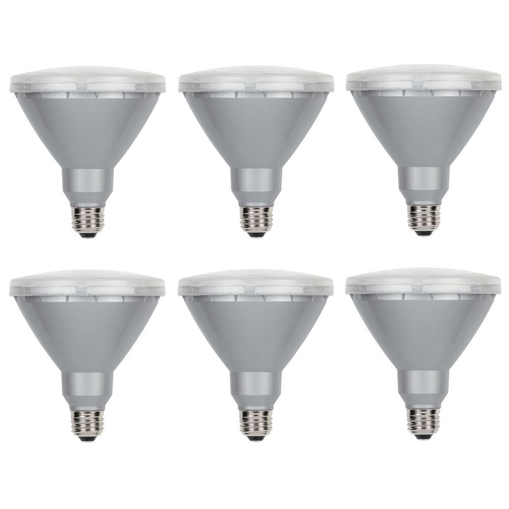 90 Watt Equivalent Par38 Flood 4000k Led Light Bulb 6 Pack