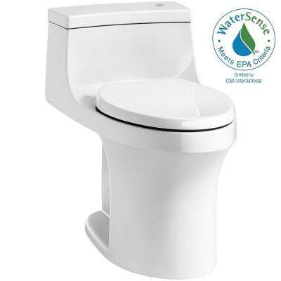 San Souci Touchless Comfort Height 1-piece 1.28 GPF Single Flush Elongated Toilet with AquaPiston Flush in White