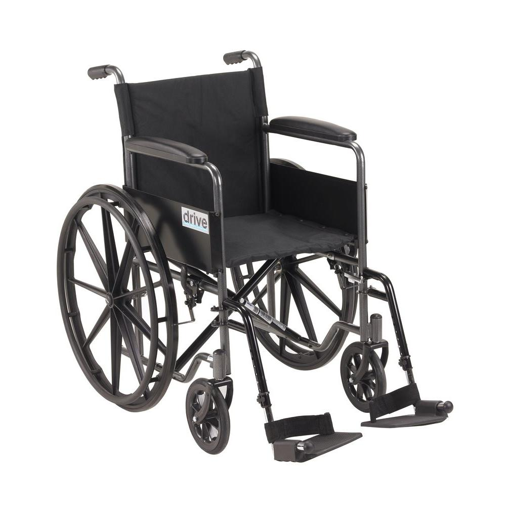 Drive Silver Sport 1 Wheelchair With Full Arms And Swing