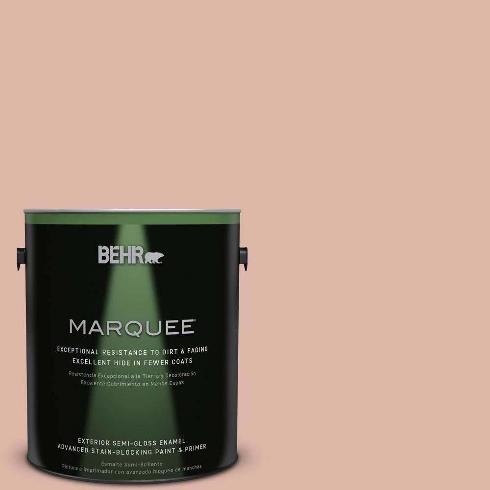 BEHR MARQUEE 1-gal. #220E-3 Melted Ice Cream Semi-Gloss Enamel Exterior Paint
