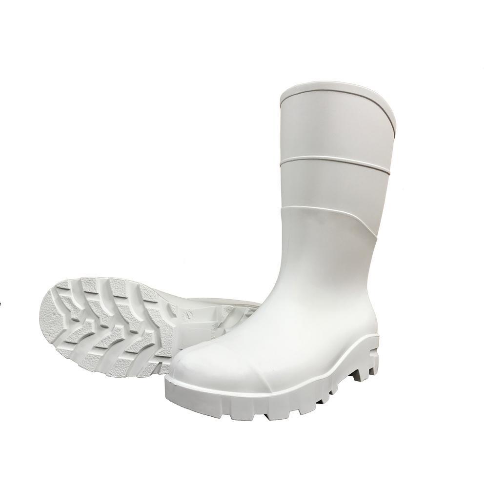 White Rubber Concrete Boot Size