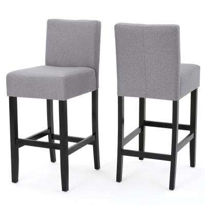 Lopez 29.5 in. Light Grey Fabric Bar stool (Set of 2)