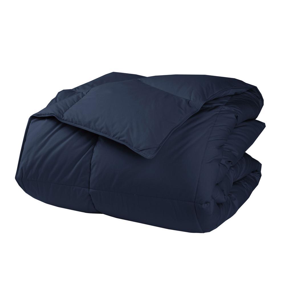 LaCrosse LoftAIRE Extra Warmth Navy Blue King Down Alternative Comforter