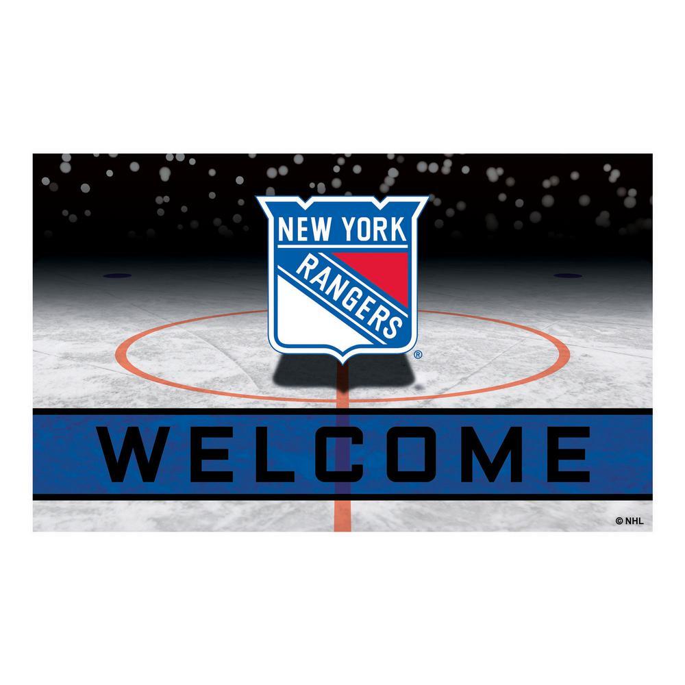 NHL - New York Rangers 18 in. x 30 in. Rubber Door Mat