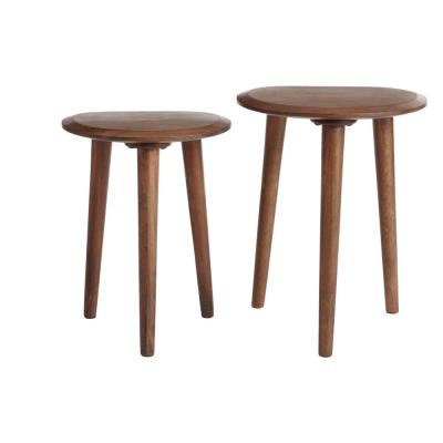 Home Decorators Collection Haze Finish Wood Accent Tables (Set of 2) (16 in. W x 21 in. H)