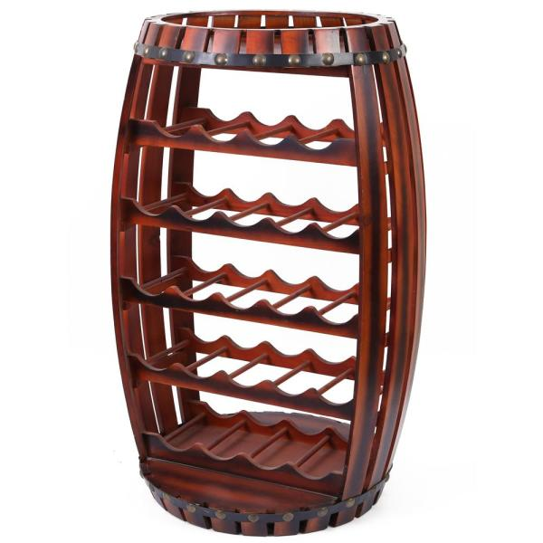 Vintiquewise Large Wooden Barrel Shaped