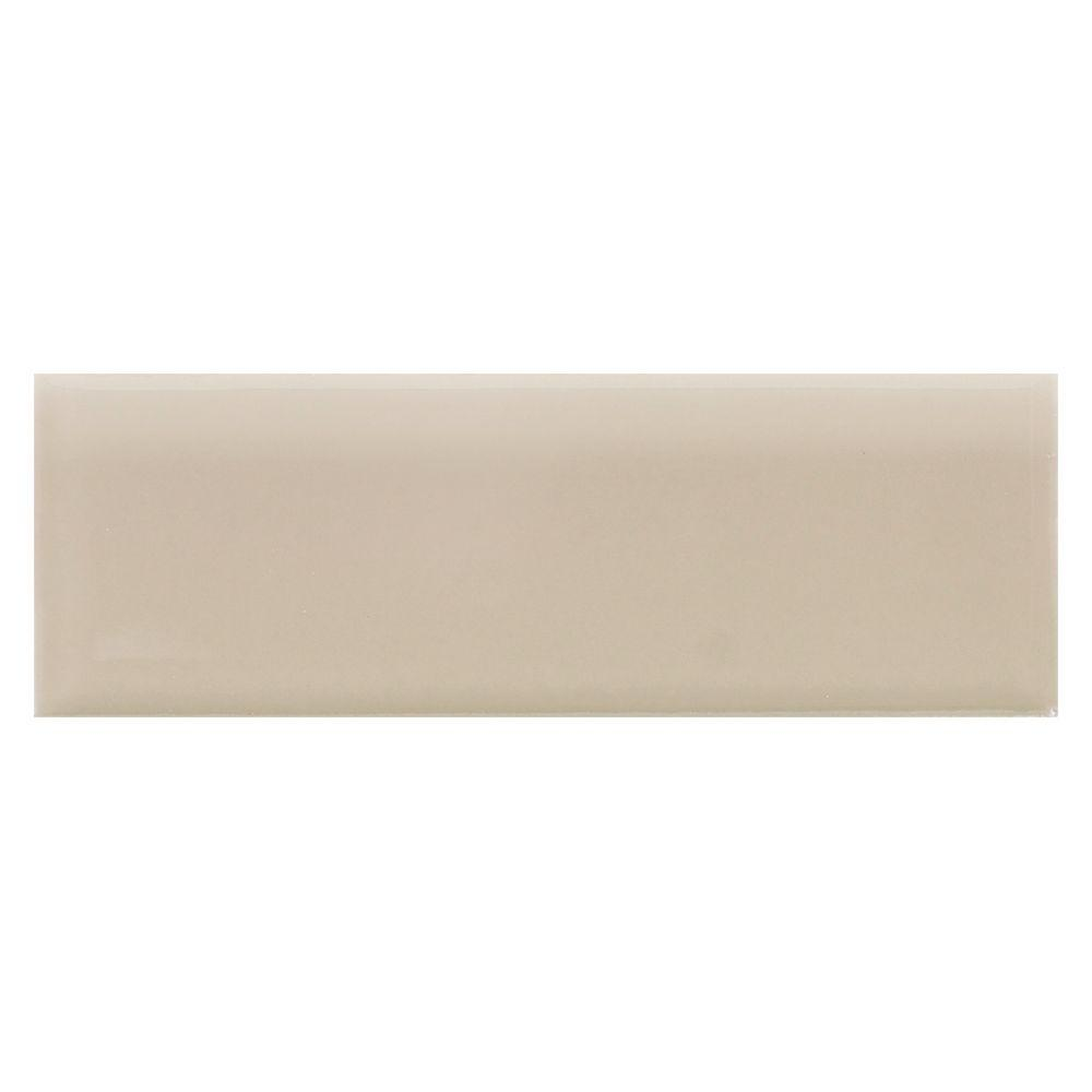 Daltile Semi Gloss Urban Putty 2 In X 6 Ceramic Bullnose Wall
