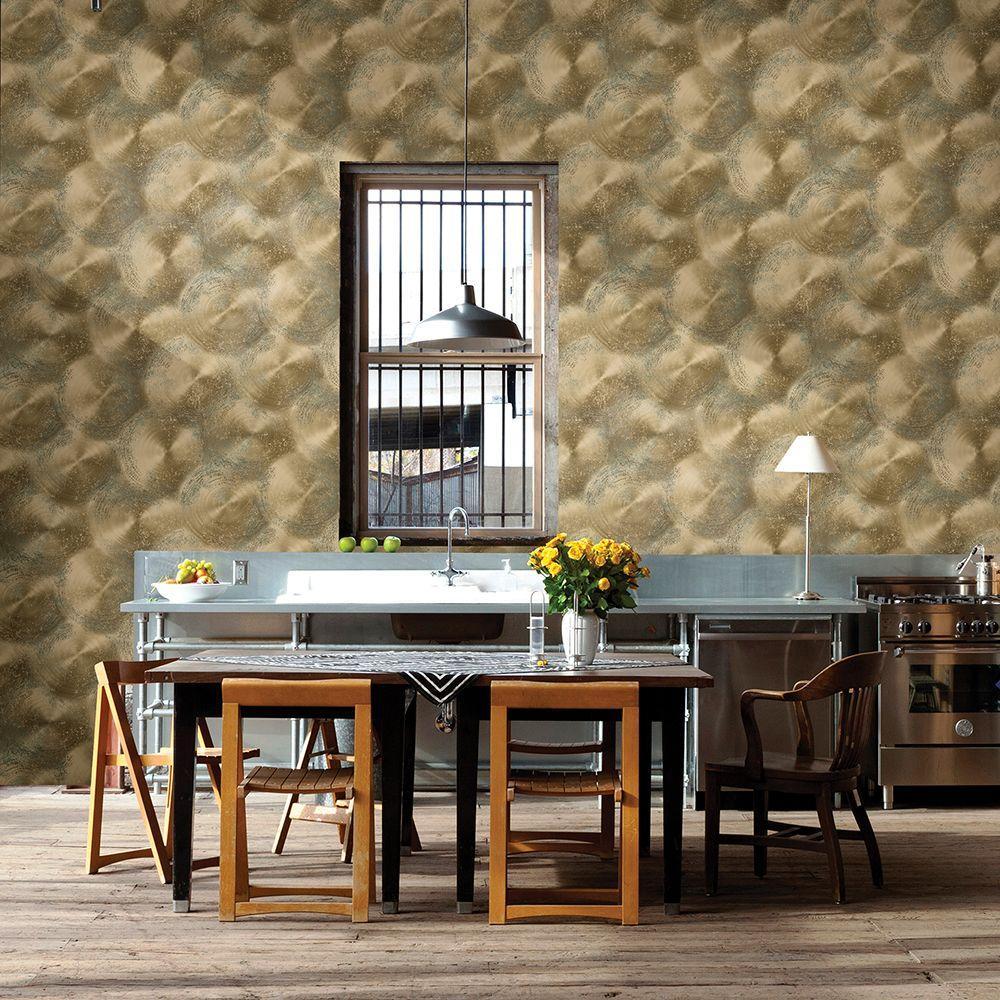 Gold Tarnished Metal Metallic Texture Wallpaper