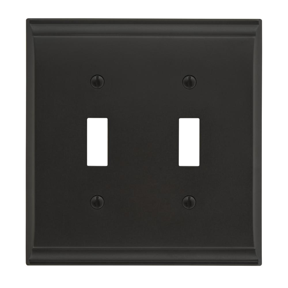 Jumbo Switch Plates Wall The Home Depot Leviton Light Almond Decora Triple Rocker Triplex Candler 2 Toggle Black Bronze Plate
