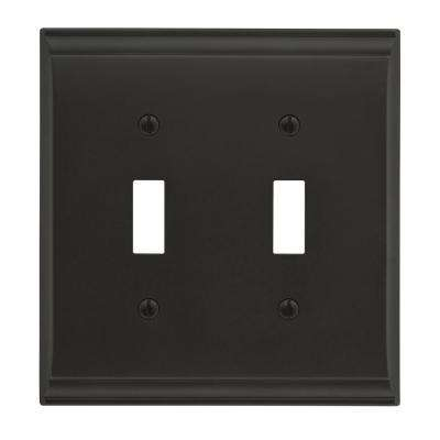 Candler 2 Toggle Black Bronze Wall Plate