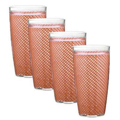 Fishnet 22 oz. Orchid Insulated Drinkware (Set of 4)