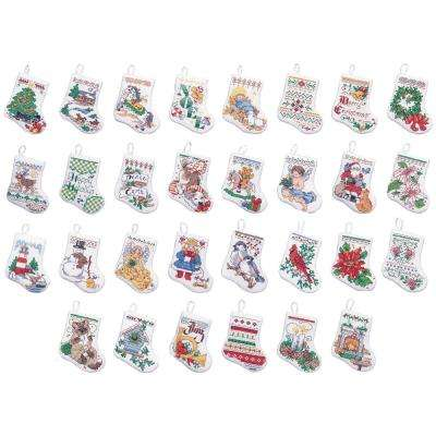Tiny Stocking Adult Counted Cross Stitch Ornament Kit